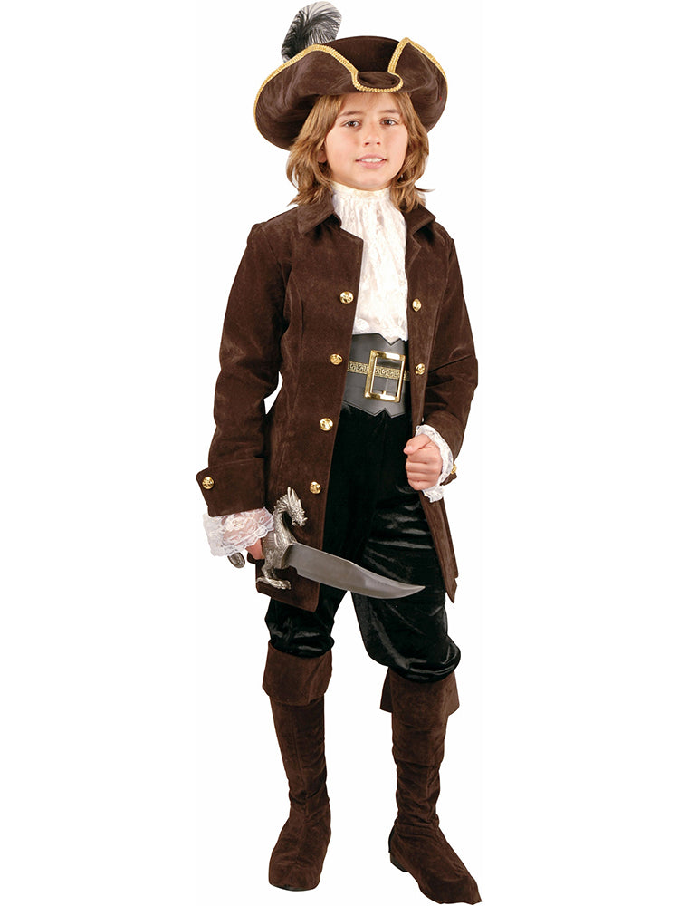Child's Quality Suede Pirate Costume-COSTUMEISH
