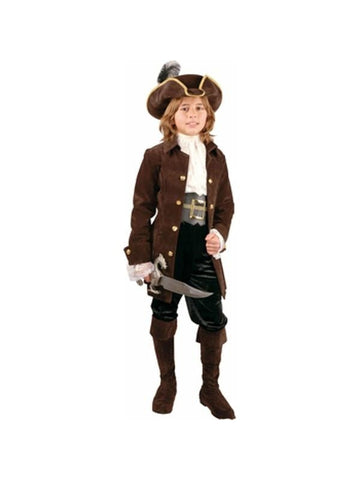 Preteen Deluxe Boy's Carribean Pirate Costume-COSTUMEISH