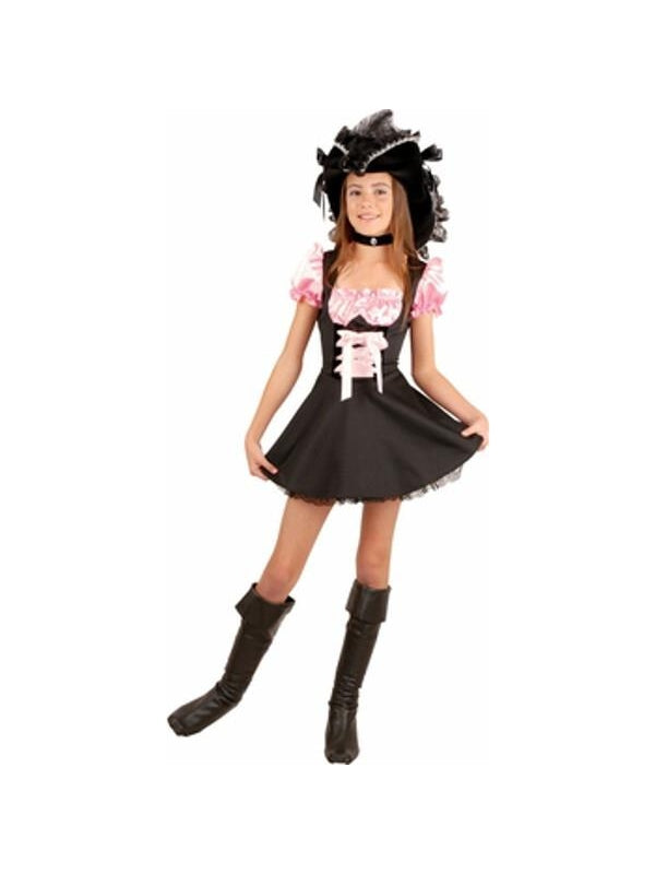 Preteen Pink Storybook Pirate Costume-COSTUMEISH