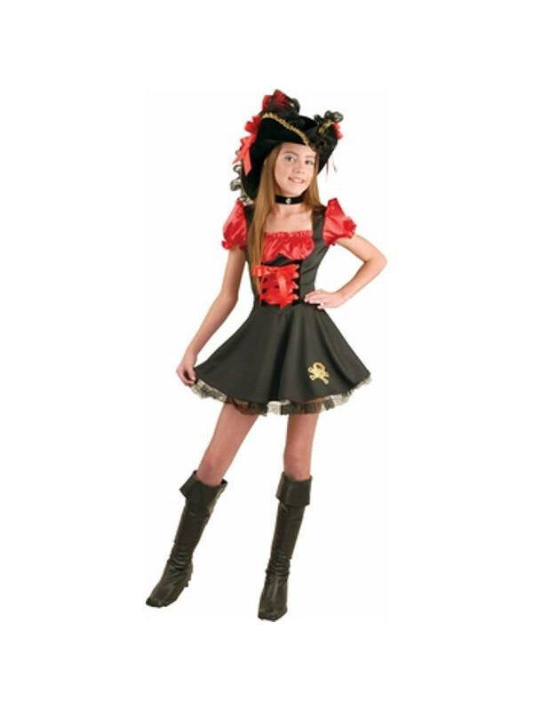 Preteen Red Storybook Pirate Costume-COSTUMEISH