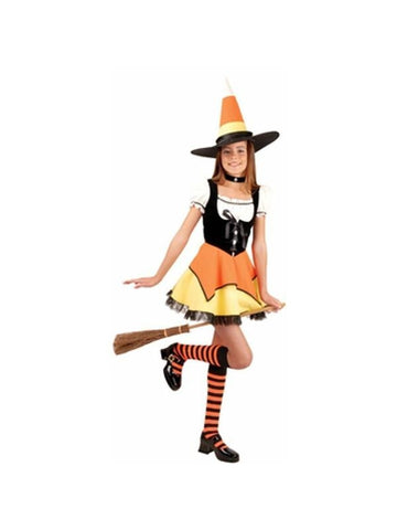 Preteen Candy Corn Witch Costume-COSTUMEISH