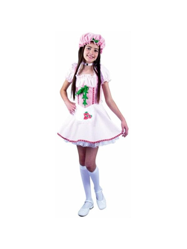 Preteen Strawberry Girl Costume-COSTUMEISH