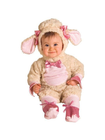 Baby Girl Pink Lamb Costume-COSTUMEISH