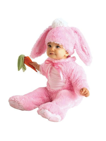 Infant Pink Baby Girl Bunny Costume-COSTUMEISH