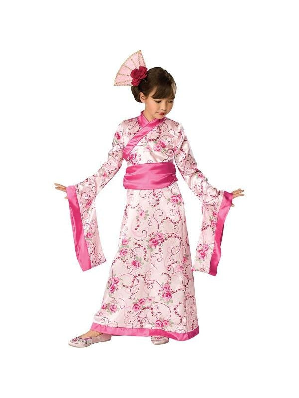 Child Pink Geisha Girl Costume-COSTUMEISH