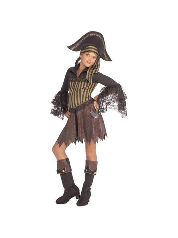 Childs Sassy Pirate Girl Costume