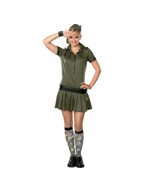 Teen Army Girl Costume-COSTUMEISH