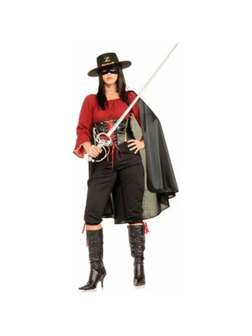 Adult Deluxe Women's Zorro Costume
