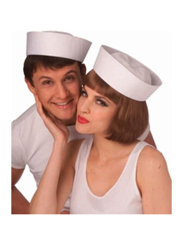 Adult White Sailor Hat