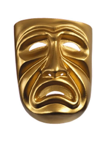 Gold Tragedy Mask-COSTUMEISH