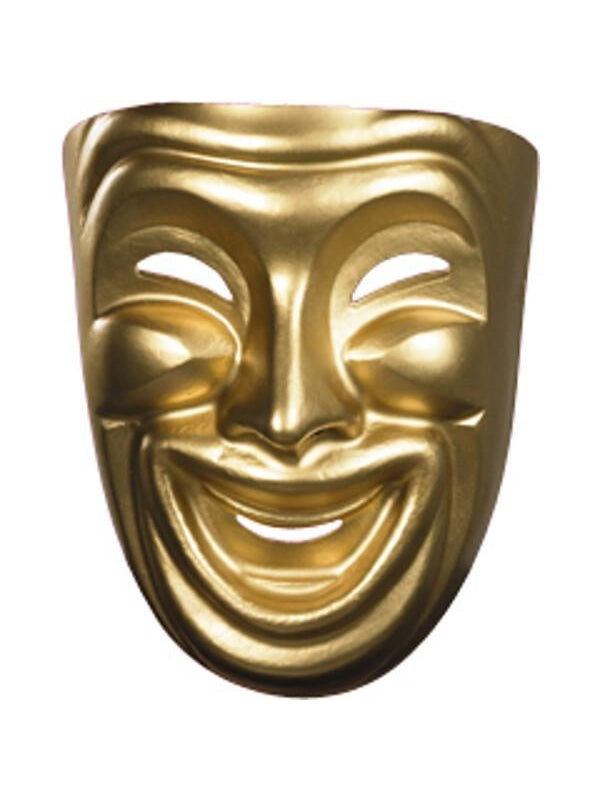 Gold Comedy Mask-COSTUMEISH