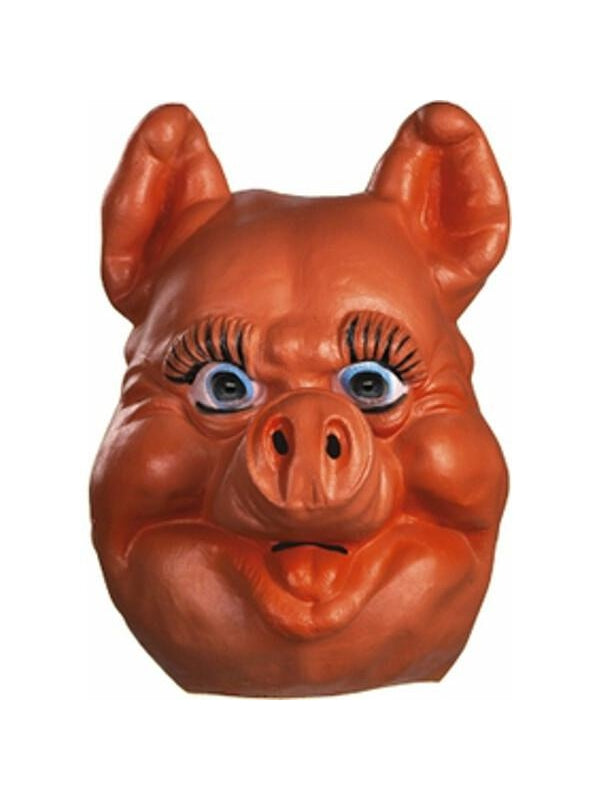 Deluxe Farm Animal Pig Mask-COSTUMEISH