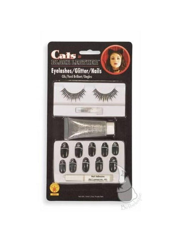 Black Cat Nails Costume Accessory Kit
