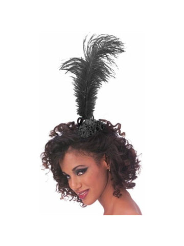 Black Single Feather Tiara