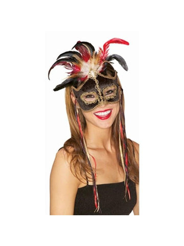Black Bird Of Paradise Venetian Mask-COSTUMEISH