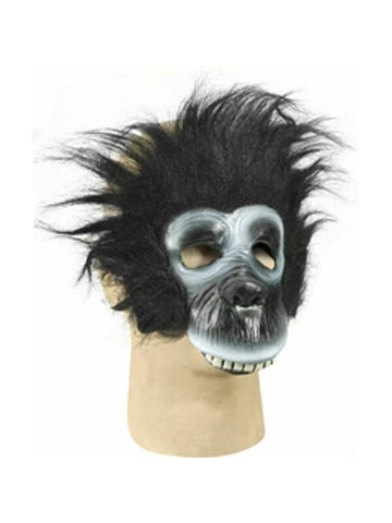 Plush Gorilla Costume Face Mask-COSTUMEISH