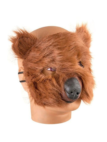 Plush Bear Costume Face Mask
