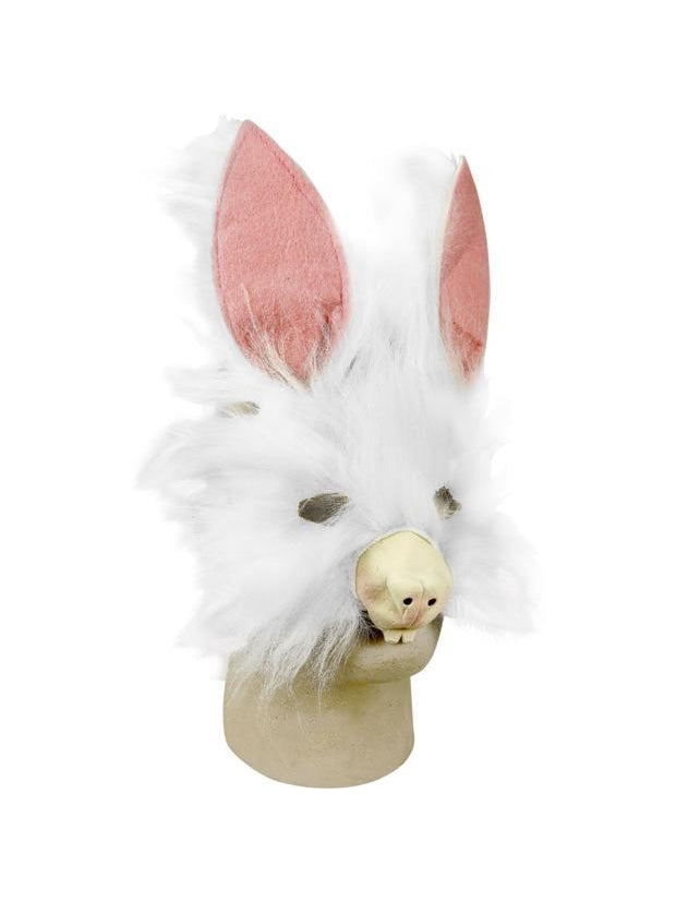Plush Bunny Costume Face Mask-COSTUMEISH