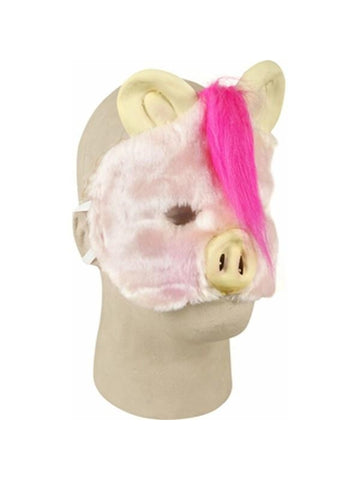 Plush Pig Costume Face Mask