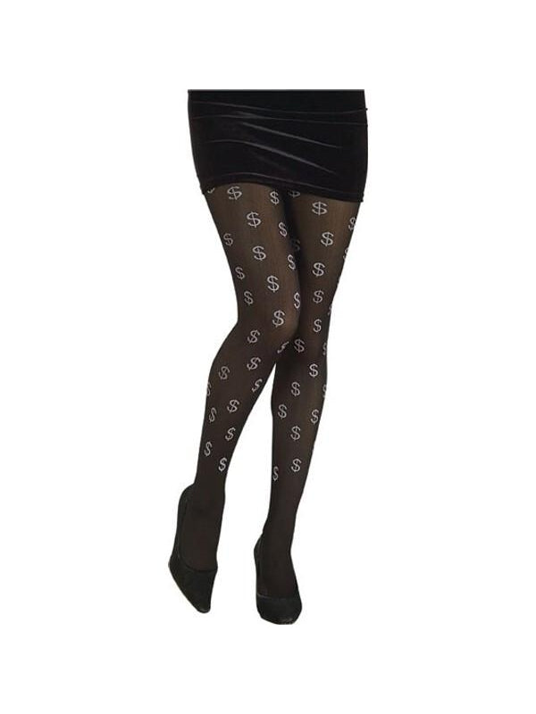 Adult Dollar Sign Ho Costume Tights-COSTUMEISH
