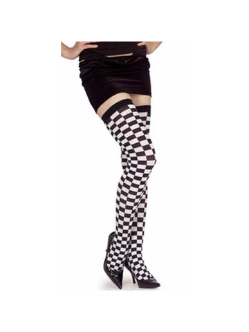 Adult Checkered Thigh Highs-COSTUMEISH