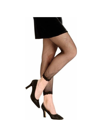 Black Fishnet Leggings-COSTUMEISH