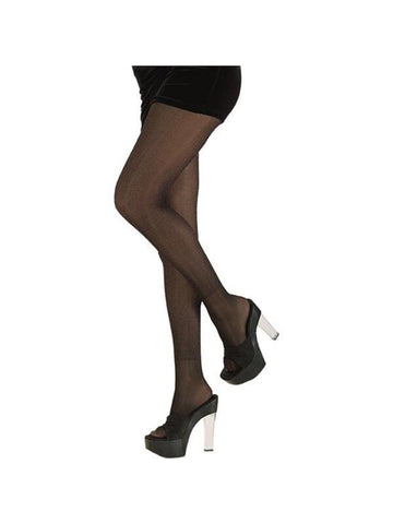 Adult Black Glitter Costume Tights