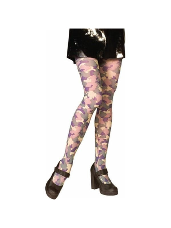 Adult Camouflage Costume Tights-COSTUMEISH