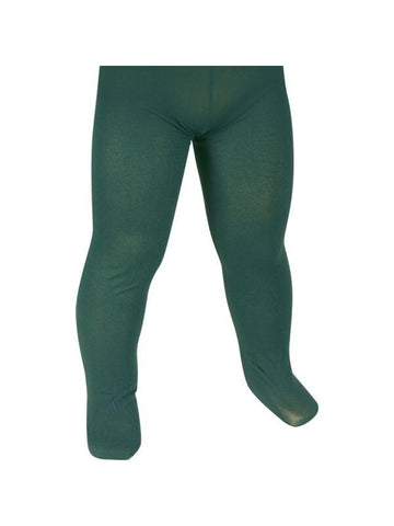 Childs Solid Green Tights