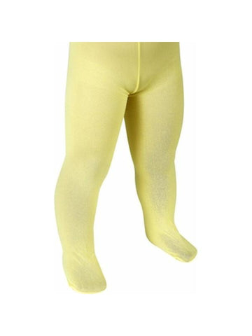 Childs Solid Yellow Tights