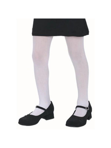 Child's Solid White Tights