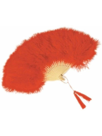 Red Feathered Fan-COSTUMEISH
