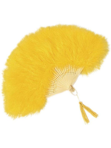 Yellow Feathered Fan