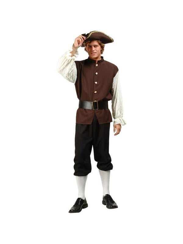 Adult Deluxe Samuel Adams Costume-COSTUMEISH