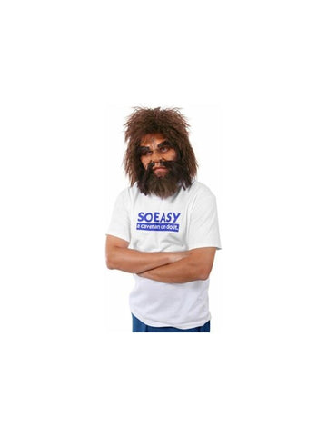 Cave Man Geico Half-Mask Costume-COSTUMEISH