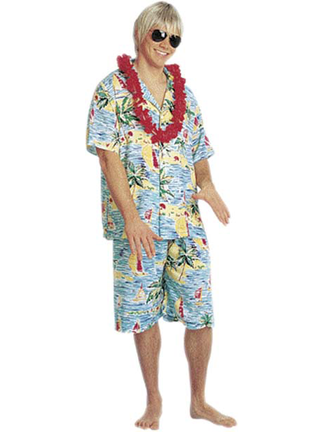 Men's Hawaiian Tourist Costume-COSTUMEISH