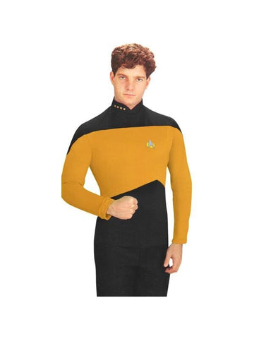 Adult Yellow Star Trek Next Generation Costume Shirt