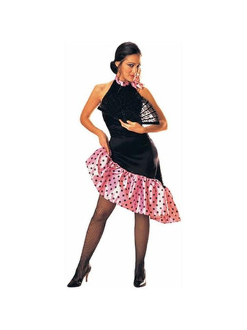 Adult Pink Flamenco Dancer Costume