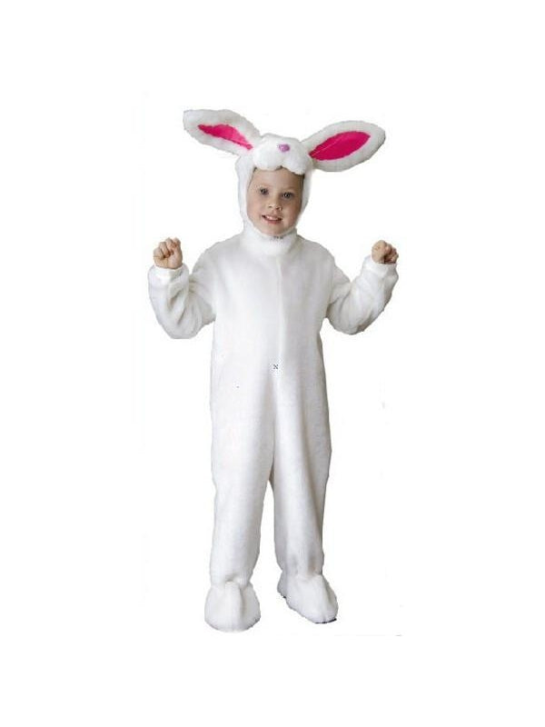 Child Deluxe White Bunny Rabbit Costume-COSTUMEISH