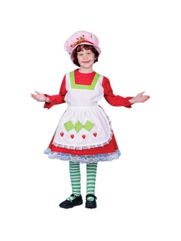 Child's Deluxe Strawberry Costume Dress-COSTUMEISH