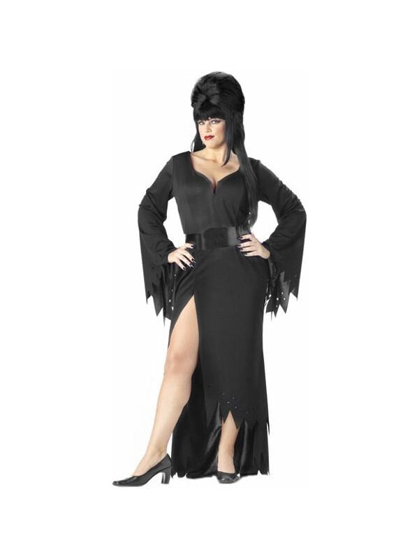 Adult Plus Size Mistress of the Night Costume-COSTUMEISH