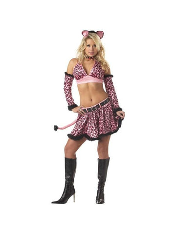 Adult Sexy Pink Kitty Costume-COSTUMEISH