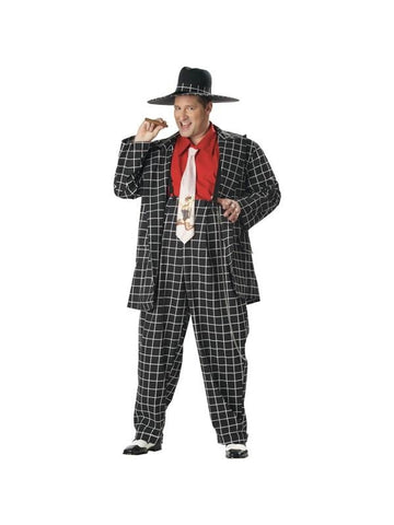 Adult Plus Size Black Zoot Suit Costume