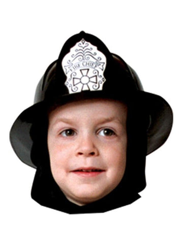 Child Black Fireman Hat-COSTUMEISH