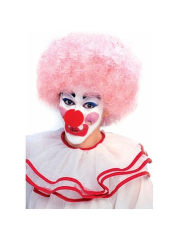 Adult Light Pink Clown Wig
