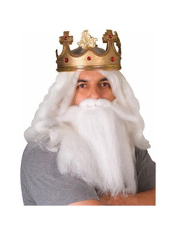 King Neptune Costume Beard and Mustache Set-COSTUMEISH