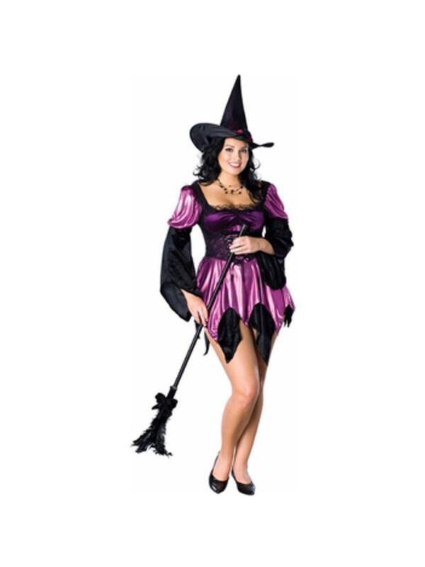 Adult Purple Plus Size Sexy Witch Costume-COSTUMEISH  sc 1 st  Costumeish.com & Adult Purple Plus Size Sexy Witch Costume
