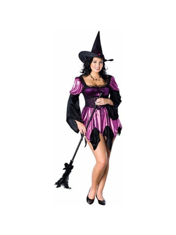 Adult Purple Plus Size Sexy Witch Costume-COSTUMEISH