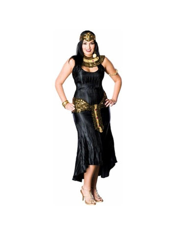 Adult Plus Size Black Cleopatra Costume-COSTUMEISH