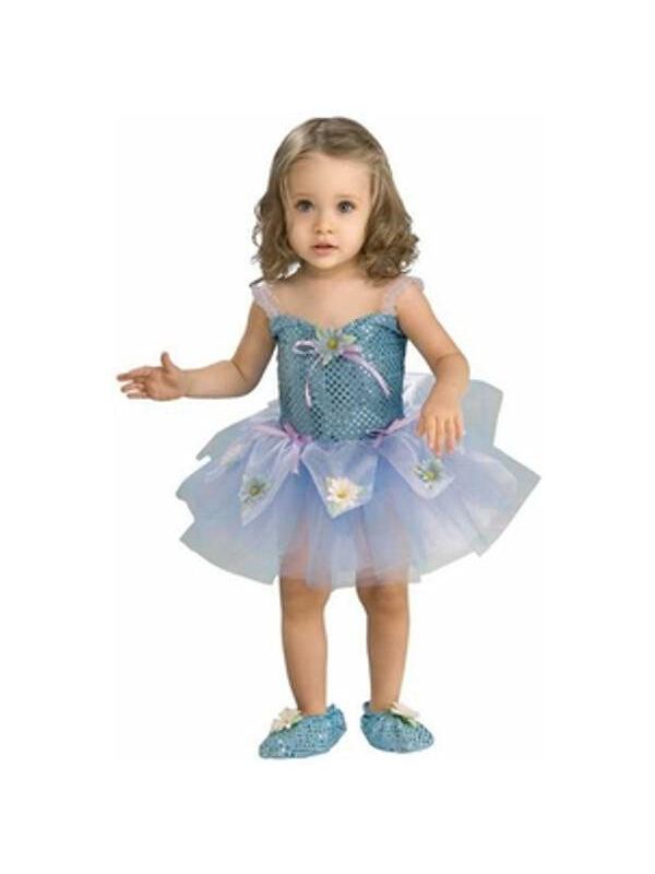 Toddler Blue Daisy Ballerina Girl Costume-COSTUMEISH